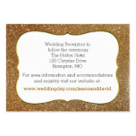 Chic Gold Glitter Look Wedding Enclosure Card