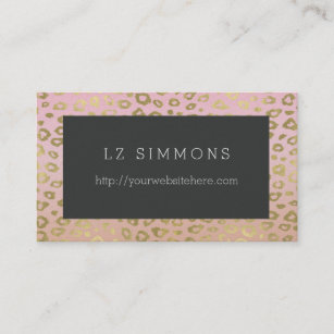 Elegant animal gold black leopard business cards zazzle au chic gold leopard print business card reheart Image collections