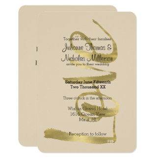Chic Gold Love is Patient Wedding Card