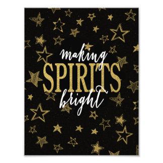 CHIC GOLD | MAKING SPIRITS BRIGHT STARS PHOTO PRINT