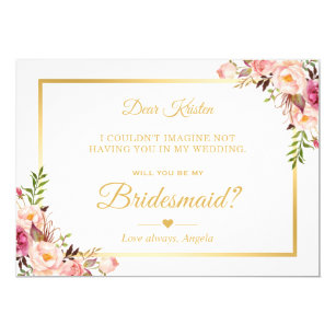 Will You Be My Bridesmaid Cards Zazzle Au