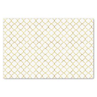 Chic Gold Quatrefoil Tissue Paper