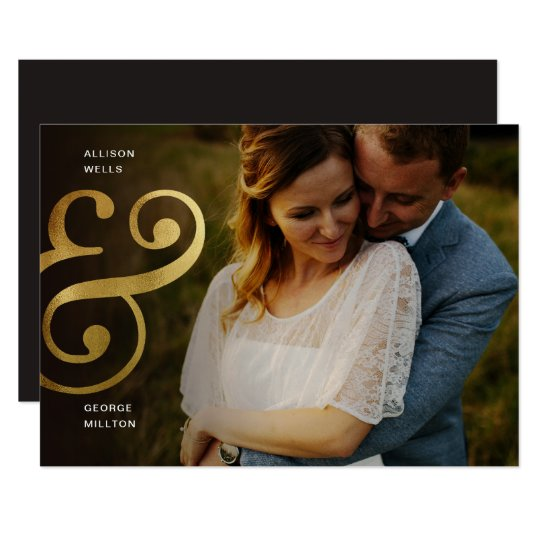 Chic Gold SAVE THE DATE Ampersand Announcement