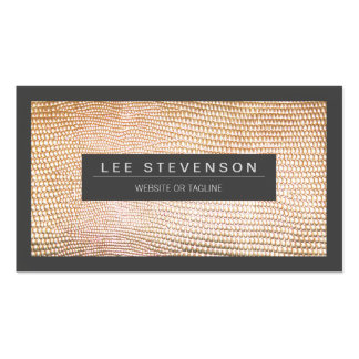 Chic Gold Snake Skin Fashion Business Card Standard Business Cards