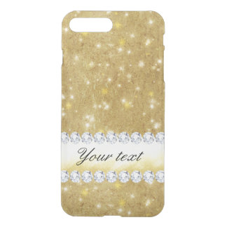 Chic Gold Sparkling Stars and Diamonds iPhone 8 Plus/7 Plus Case
