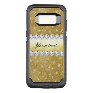Chic Gold Sparkling Stars and Diamonds OtterBox Commuter Samsung Galaxy S8 Case
