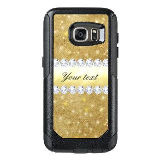 Chic Gold Sparkling Stars and Diamonds OtterBox Samsung Galaxy S7 Case