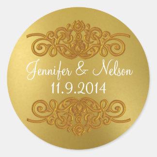 Chic Gold Tone Wedding Envelope Seal