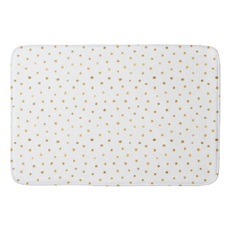 Chic Gold White Dots Bath Mat