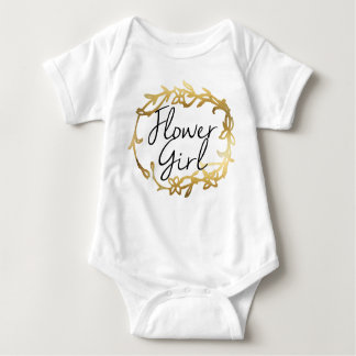 Chic Golden Floral | Flower Girl Baby Bodysuit