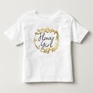Chic Golden Floral | Flower Girl Toddler T-Shirt