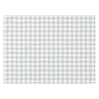 Chic gray dogtooth houndstooth pattern tablecloth