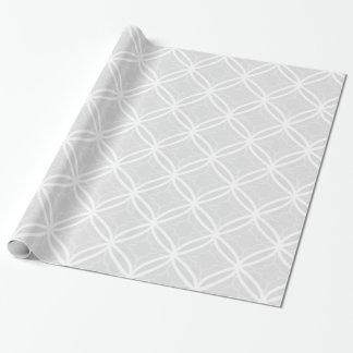 Chic Gray & White Lattice Geometric Pattern Wrapping Paper