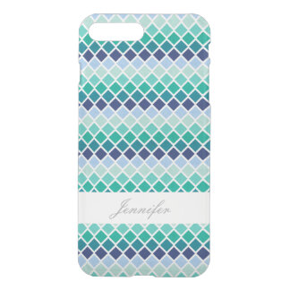 Chic Green Argyle With Name Case