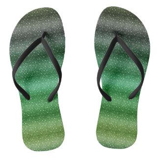 Chic Green Custom Adult, Slim Straps Thongs