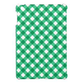 Chic green gingham pattern checkered checkers iPad mini case