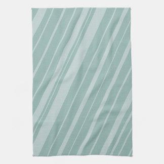 Chic Green Mint Stripes Tea Towel