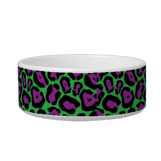 Chic Green & Purp Leopard Print Monogram Name Dish