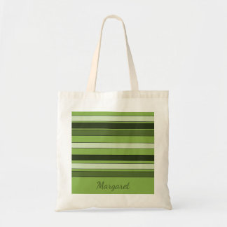 Chic Greenery Green Stripes Pattern Name Margaret