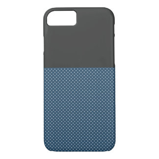 Chic Grey and Blue Dots iPhone 7 Case,Barely There iPhone 8/7 Case