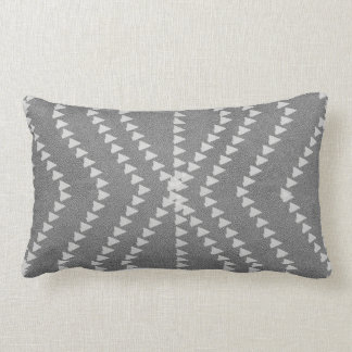 Chic Grey Leather Look White  Arrows Pillow