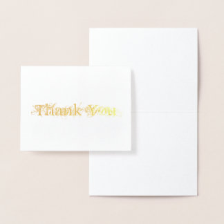 Chic Grunge Font Thank You Foil Card