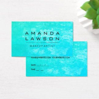Chic Grunge Turqoise (appointment) Business Card