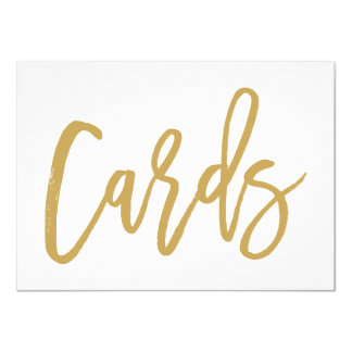 Chic Hand Lettered Gold Wedding Cards Print 11 Cm X 16 Cm Invitation Card