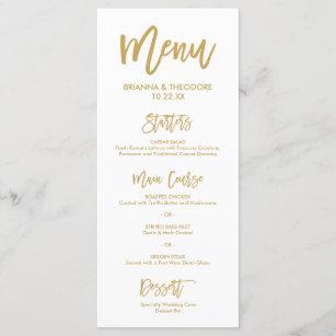 Wedding menus zazzle chic hand lettered gold wedding menu junglespirit Gallery
