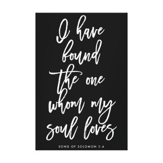 Chic Hand Lettered I have Found the One Sign Canvas Print