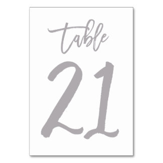 Table number 21 gifts t shirts art posters other for Table 52 number