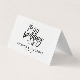 Chic Hand Lettered Wedding Folded Escort Card