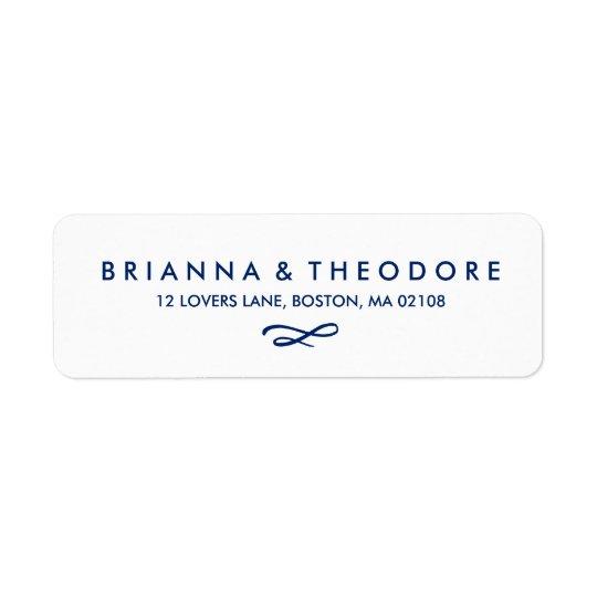 Chic Hand Lettered Wedding Return Address Label