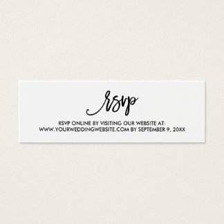 Chic Hand Lettered Wedding RSVP Online Card