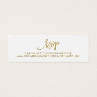 Chic Hand Lettered Wedding RSVP Online Card