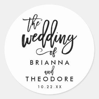 Chic Hand Lettered Wedding Sticker