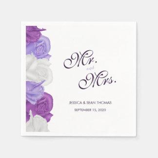 Chic Heirloom Roses Wedding Paper Napkin
