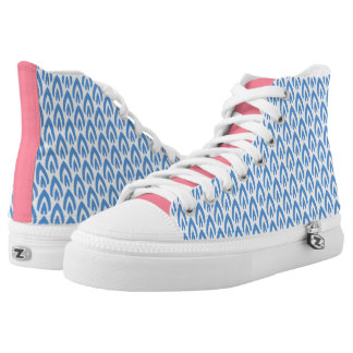 CHIC HIGH TOP ZIPZ_MODERN 101 BLUE/WHITE FLAME