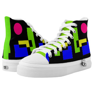 CHIC HIGH TOP ZIPZ_MODERN,COLORFUL ABSTRACT