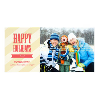 Chic Holiday Photo Card - Red