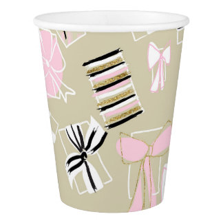 Chic Holiday Presents Party Cups