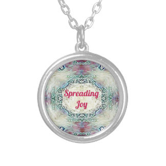 Chic Holiday Season Burgundy Spreading Joy Silver Plated Necklace