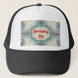Chic Holiday Season Burgundy Spreading Joy Trucker Hat
