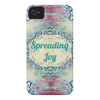Chic Holiday Season Green 'Spreading Joy' iPhone 4 Cover