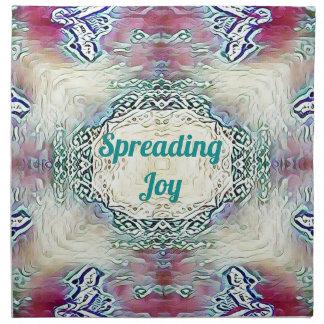 Chic Holiday Season Green 'Spreading Joy' Napkin