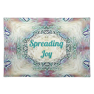 Chic Holiday Season Green 'Spreading Joy' Placemat