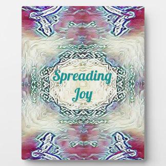 Chic Holiday Season Green 'Spreading Joy' Plaque