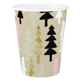Chic Holiday Trees Party Cups