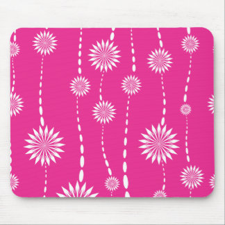 Chic Hot Pink Floral Computer Mouse Mouse Pad