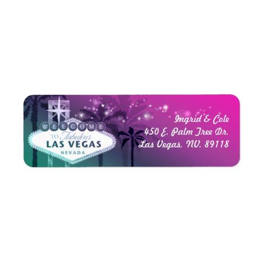 Chic Hot Pink Las Vegas Wedding Return Address Label
